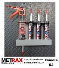 2x 1 Gun + 3 Tube Mastic Silicone Sealant holder - Garage Van racking accessory