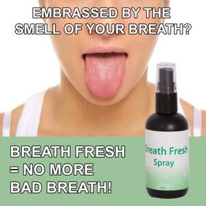 BREATH FRESH BAD BREATH SPRAY STOP SMELLY BAD STENCH GET FRESH CLEAN MOUTH