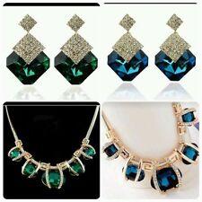 Crystal Acrylic Oval Costume Necklaces & Pendants