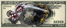 "*Michael Godard-""$100 BILL WITH DICE""-Gambling-Art*Canvas Poster  33 1/2"" x 14"""