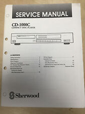 Sherwood Service Manual for the CD-1000C CD Player ~ Repair