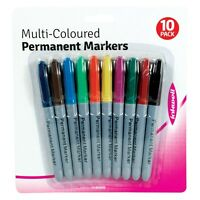 10 Pcs Pack Multi Coloured Permanent Markers - Brand New