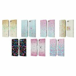 HEAD CASE CONFETTI LEATHER BOOK WALLET CASE & WALLPAPER FOR APPLE iPOD TOUCH MP3