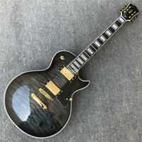 Grote Black burst maple top Electric Guitar with Solid Mahogany Gold Hardware