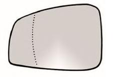 RENAULT LAGUNA III Spiegelglas Außenspiegel Links Heizbar Asphärisch Chrom