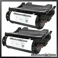 2PK 64415XA for Lexmark T644 BLACK Extra High Yield Toner Cartridge T644dn T644n