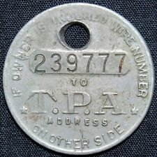 TPA Travelers Protective Association Of America Insurance Token - Holed