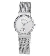Skagen 355SSS1 Women's Denmark Stainless Steel Mesh Bracelet Silver Dial Watch