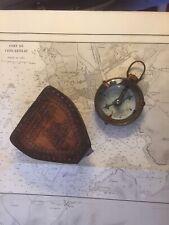 Boussole loupe de table à carte  en laiton décoration marine bateau