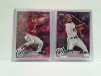 NATIONALS Bryce Harper + Anthony Rendon 2018 Topps Pink Refractors