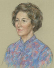 Dorothy Colles (1917-2003) - Pastel, Portrait of a Lady in a Blouse