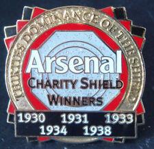 ARSENAL Victory Pins 1930s 5 Times winners of CHARITY SHIELD Danbury Mint badge