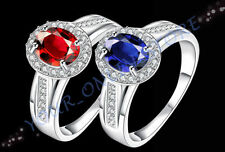 Glass Silver Plated Fashion Rings