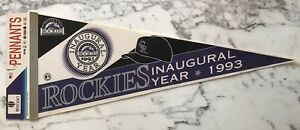 COLORADO ROCKIES 1993 INAUGURAL TEAM PENNANT