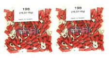 (200 PACK) 22-18 GAUGE RED RING TERMINALS ELECTRICAL WIRE CONNECTORS #8