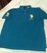 Mens US Polo Ass Blue Short Sleeve   Shirt Size Large XL VGC