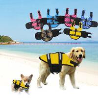 DOG LIFE JACKET PET SAFETY VEST PRESERVER SAVER SWIMMING SEA SAILING BOATING