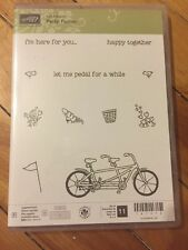 Stampin' Up! Pedal Pusher stamp set Photopolymer Bicycle Sale-A-Bration 2016