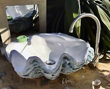 Giant Clam Shell Bathroom Sink Wash Basin Counter Top Cloakroom Trade Counter