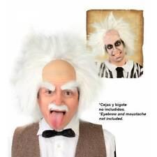 Loco Nutty Professor Einstein Peluca Beetlejuice Disfraz de Halloween