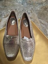 Clarks Artisan Metallic Gold Leather Flats