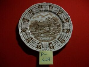 VINTAGE 1975 ALFRED MEAKIN STAFFORDSHIRE, ENGLAND MONTHLY ZODIAC CALENDER PLATE