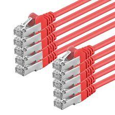 10 x 3m CAT.5e F/UTP Kabel geschirmt rot Patchkabel LAN DSL Netzwerk Ethernet