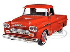 1958 CHEVROLET APACHE FLEETSIDE PICKUP TRUCK ORANGE 1/24 MODEL BY MOTORMAX 79311