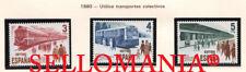 1980 TRANSPORTE PUBLICO TRAIN UNDERGROUND MOTORBUS EDI 2560 / 62 ** MNH  TC21201
