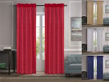 NEW 1PC LUXURY SOLID FAUX LINEN WINDOW CURTAIN TREATMENT ROD POCKET PANEL