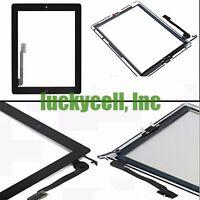 iPad 4 A1458 A1459 A1460 Black Screen Glass Digitizer + Adhesive + Home Flex