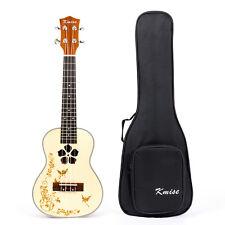 Kmise Professional  Concert Ukulele Ukelele Hawaii Guitar Mahogany Bag 23 Inch