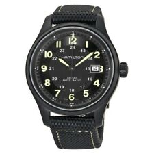 NEW HAMILTON KHAKI FIELD TITANIUM BLACK PVD CASE 42MM BLACK DIAL H70575733