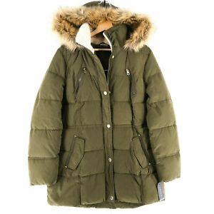 NAUTICA Olive Green Hooded Padded Puffer Jacket Parka Coat Size S M L XL XXL 2XL