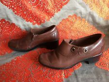 Clarks Collection Marron Taille 5.5 plein Chaussure Talons Zip
