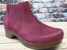 Dansko Barbara Wine Burnished Nubuck Leather Boot    *9425-887800