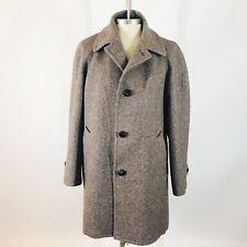 Pendleton Woolen Mills 100% Virgin Wool Men's Knot Button Lined Coat Brown Sz 44