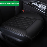 3PCS Full Set Car Seat Cover Cushion Mat Perforated Breathable Full Surround