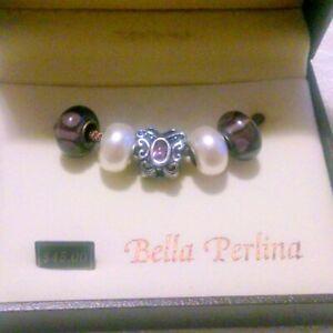 NIB Bella Perlina Charms Purple White Retail $45