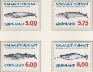 GLD069) Greenland 1997, set of 4, Whales, MUH