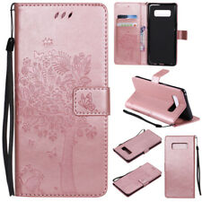 Cat Tree Wallet Leather Flip Case Cover For Samsung S3 S4 S5 S6 S7 S8 Note 8 5 4