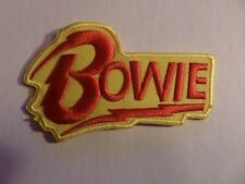 DAVID BOWIE red & yellow Embroidered 2-1/4 x 3-3/4 Iron On  Patch