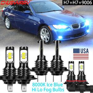 For BMW 323i 328i 1999-2000 6pkg Combo H7 H7 9006 LED Headlight Fog Light Bulbs