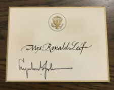 President Lyndon B. Johnson Signed White House Place Card -Presidential Seal