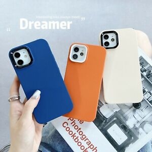 Matte Candy Color Soft Silicone Back Cover case For iPhone 13 12 11 Pro Max XS