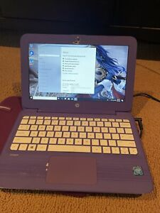 hp stream 11. Purple. Works But Needs Hard Drive Space. 32GB Storage.