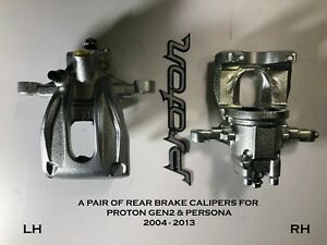 A PAIR of Proton GEN-2 1.3 / 1.6 REAR BRAKE CALIPERS *NEW* suits Persona 2004-13
