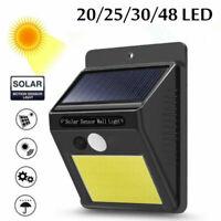 20-48LED Solaire détecteur de mouvement Lumière Lampe de jardin Extérieur lampe