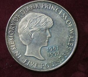 1999 In Memory of princess Diana 1961 - 1997 £5 Five Pounds Coin