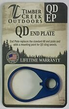 TIMBER CREEK OUTDOORS QUICK DETACH END PLATE - ANODIZED BLUE - QD EP